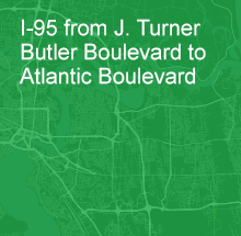 I-95 from J. Turner Butler Boulevard to Atlantic Boulevard